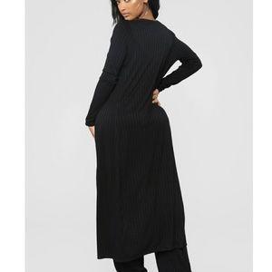 Fashion Nova floor length open fall cardigan XS